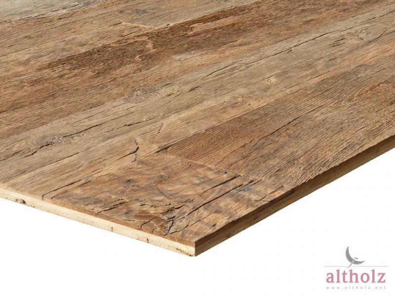 3Schicht Platte aus original altholz Eiche mit originaler