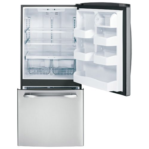 "GE 29.8"" 20.3 Cu. Ft. Bottom Mount Refrigerator (GDR20DSERBS) - Stainless Steel : Bottom Mount Refrigerators - Future Shop"