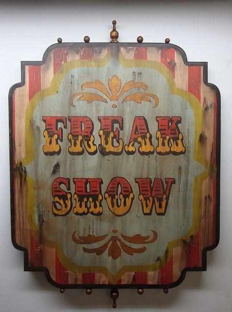 Vintage \u0027Freak Show\u0027 posters Like the weathered look Traditional - circus halloween decorations