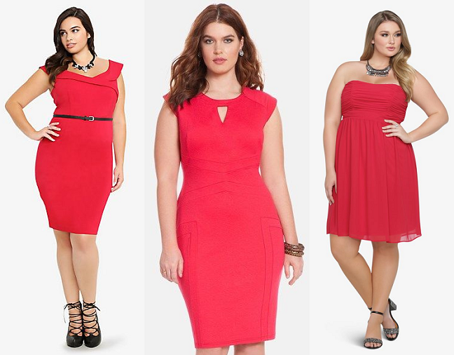 Shapely Chic Sheri - 20 Plus Size Little Red Dresses Perfect for Valentine's Day