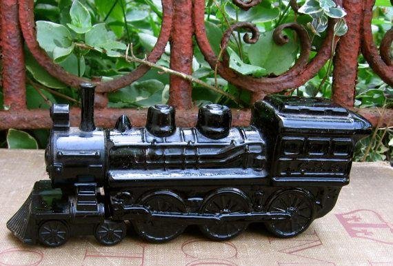 Vintage Avon Perfume Bottle Train by