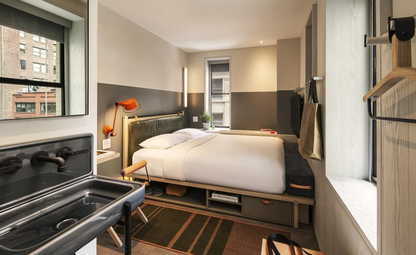 Moxy Times Square New York Usa Small Hotel Room Nyc Hotels Hotel Interior Design