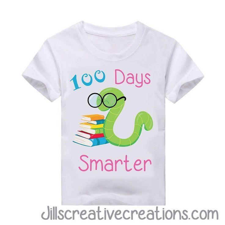 1b4e016f5 100 Days of School T-shirt, bookworm | 100th day of school ideas ...