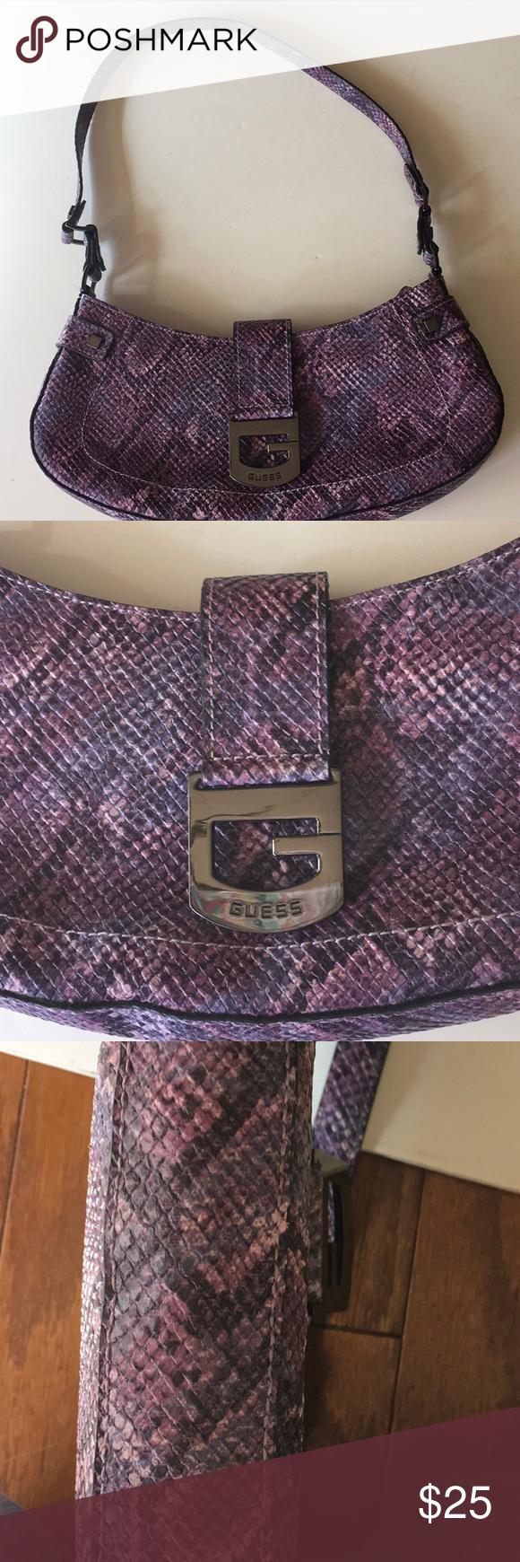 78bb24c9d4fca GUESS handbag Brand new..Guess purple faux alligator bag