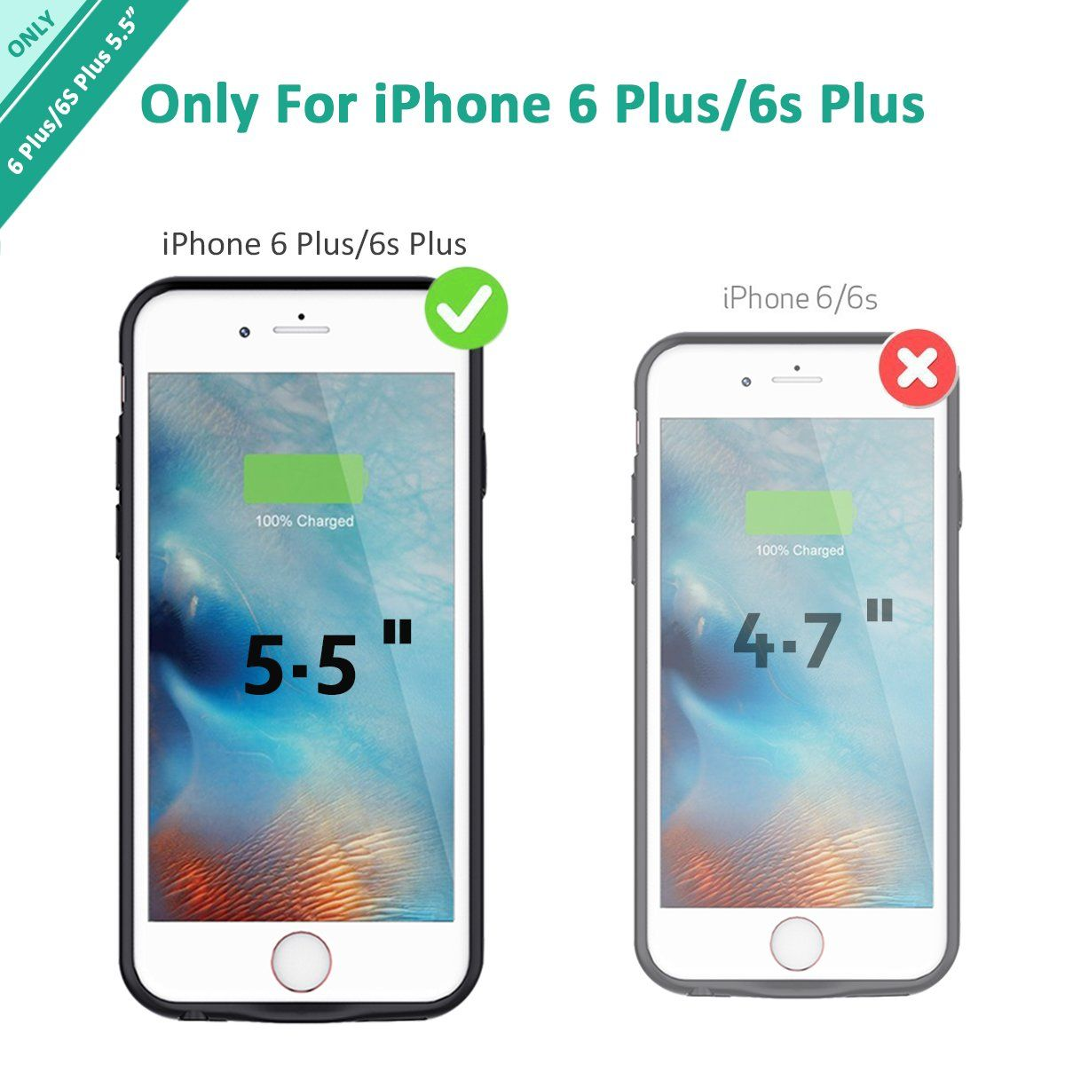 competitive price d3f89 a4865 iPhone 6s Plus/6 Plus Battery Case Stoon 7200mAh Portable Charger ...