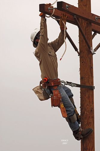 Power lineman, this is what the bf does everyday