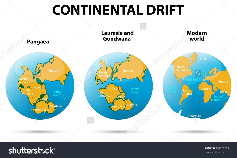 Stock Photo Continental Drift On The Planet Earth Pangaea