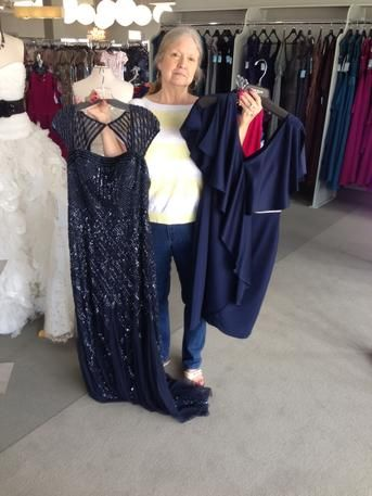 -Rehearsal dress and Mother of the bride dress! We are a one stop shop! #ilovemydress #tcarolyn #tcdressedme #motherofthebridedress  #eveningdress #eveninggown #motherofthegroomdress