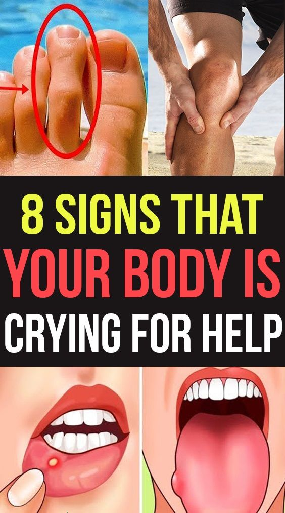 8 Signs That Your Body Is Crying Out For Help !!!