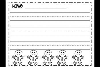 Gingerbread Writing Paper Love2teachkg Teacherspayteachers Com