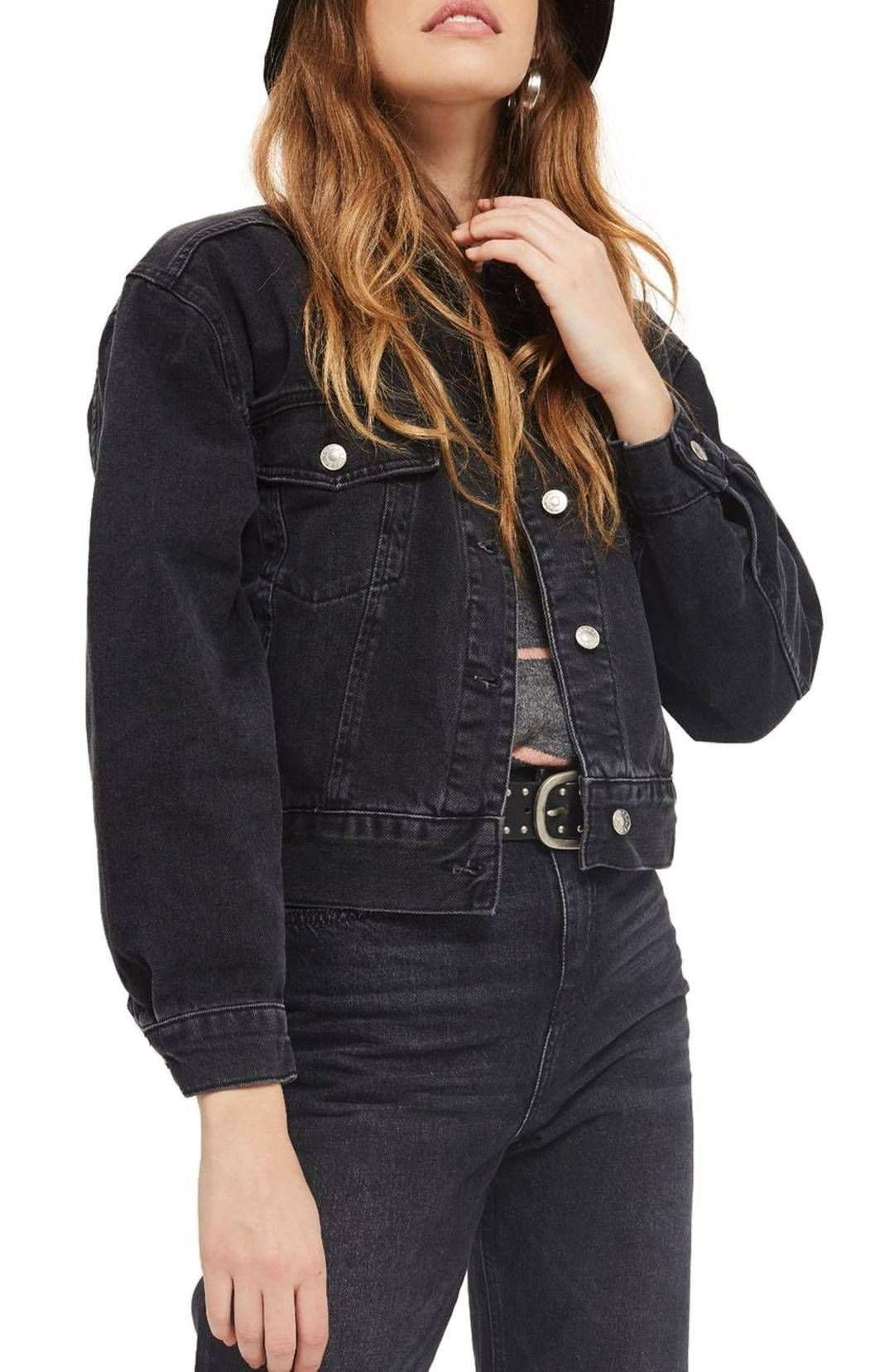 10 Under 100 Essentials For Every College Fashion Girl Cropped Denim Jacket Jean Jacket Outfits Cropped Denim [ 1656 x 1080 Pixel ]