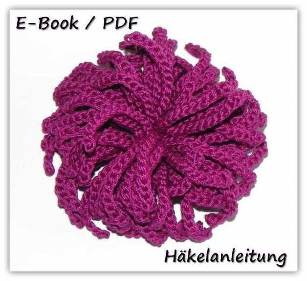 E-Book Häkelanleitung Brosche Blume Pink | Broschen, Häkelanleitung ...