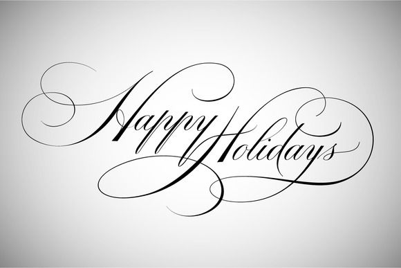 Happy Holidays Lettering Holiday Lettering Happy Birthday Lettering Happy Birthday Calligraphy