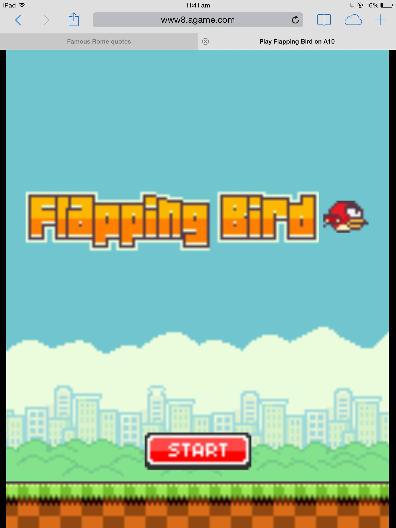 Type in flapping bird on Safari and keep on scrolling down