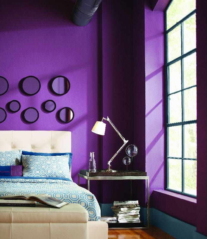 How To Paint Dark Colors Without Leaving Streaks The Home Depot Community Bed Frame Legs Purple Paint Colors Rental House Decorating