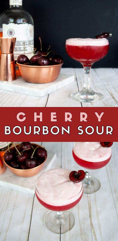 Cherry Bourbon Sour Elle Talk Recipe Bourbon Sour Recipe Bourbon Sour Cherry Drink
