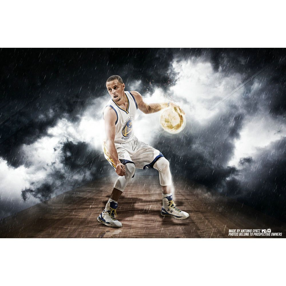 Stephen Curry Poster Basketball Sports Art Silk Poster 12x18 24x36inch