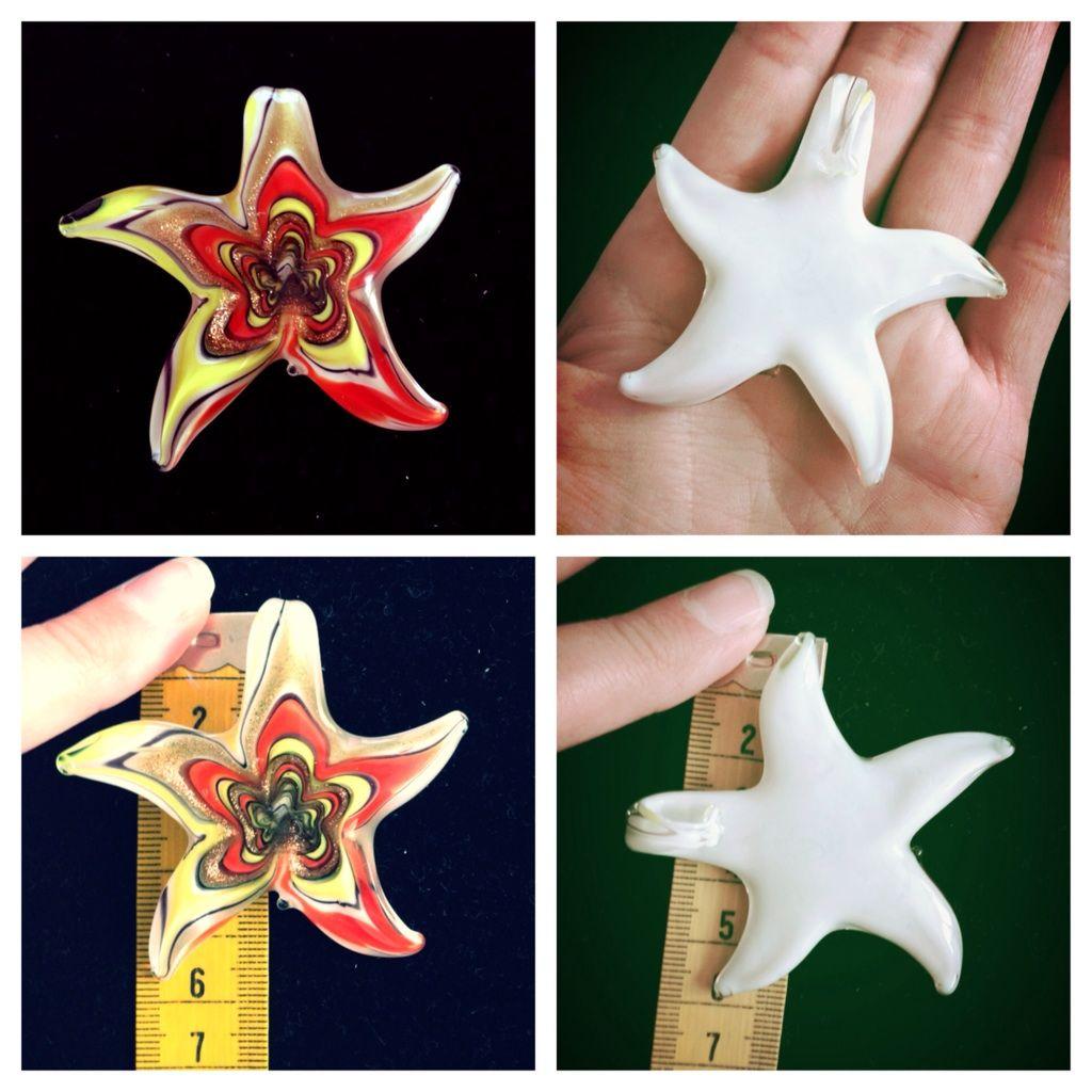Buy 2 Get 3 Free! Starfish Glass Pendant