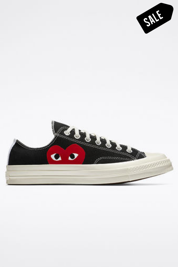 Shop converse x comme de garcons play low top black womens