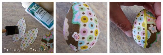 Crissy's Crafts: Fabric Easter Eggs