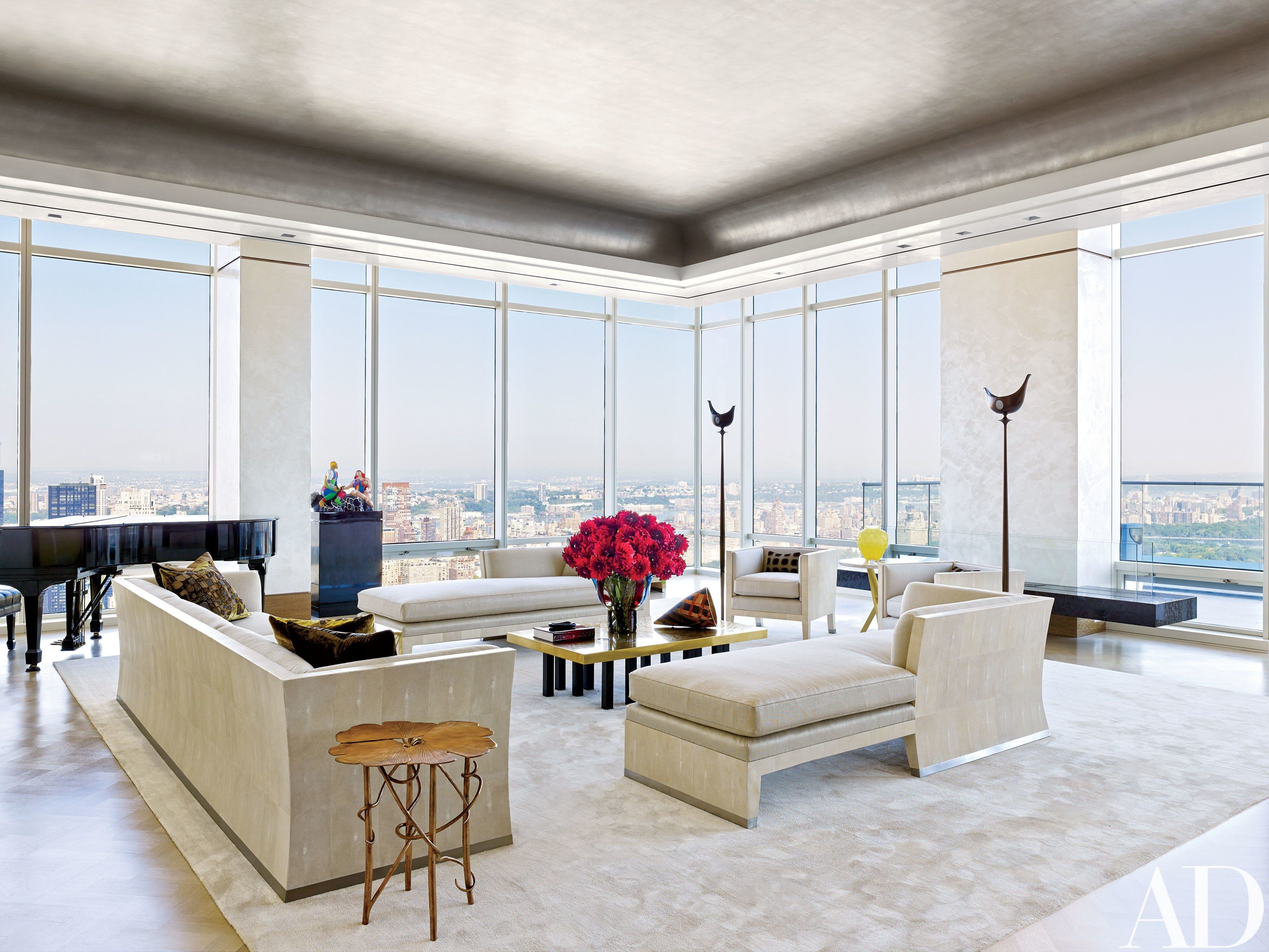 This modern new york penthouse features panoramic views and sophisticated decor photos architectural digest