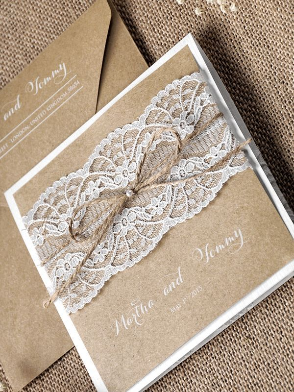 WEDDING INVITATIONS lace 01/laceS/z