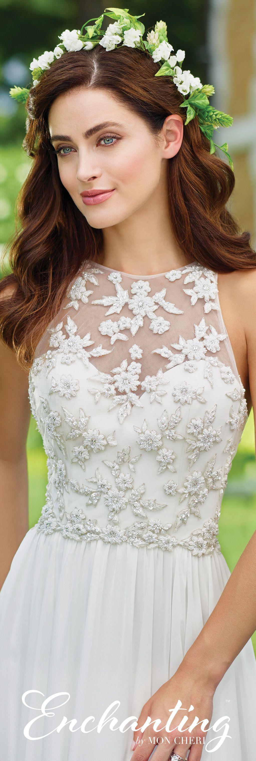 chiffon a-line wedding dress- 117174- enchantingmon cheri