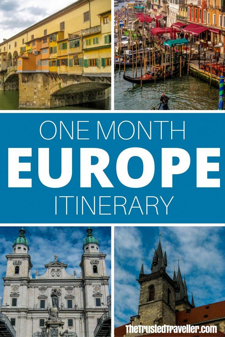 First Timers One Month Europe Itinerary