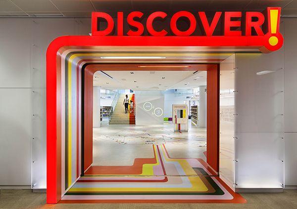 Queens Library Project In Jamaica New York Interior Design School Interior Design Awards Childrens Library