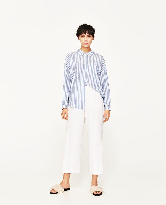 2c4248c2df9 ZARA - WOMAN - OVERSIZED STRIPED SHIRT