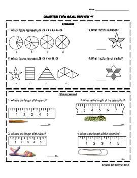 3rd Grade Math Skill Review: Common Core Based This is one of four ...