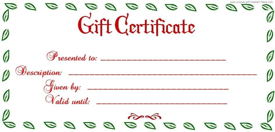 Uses For Gift Certificate Templates Blank Certificates Throughout - Diy christmas gift certificate template