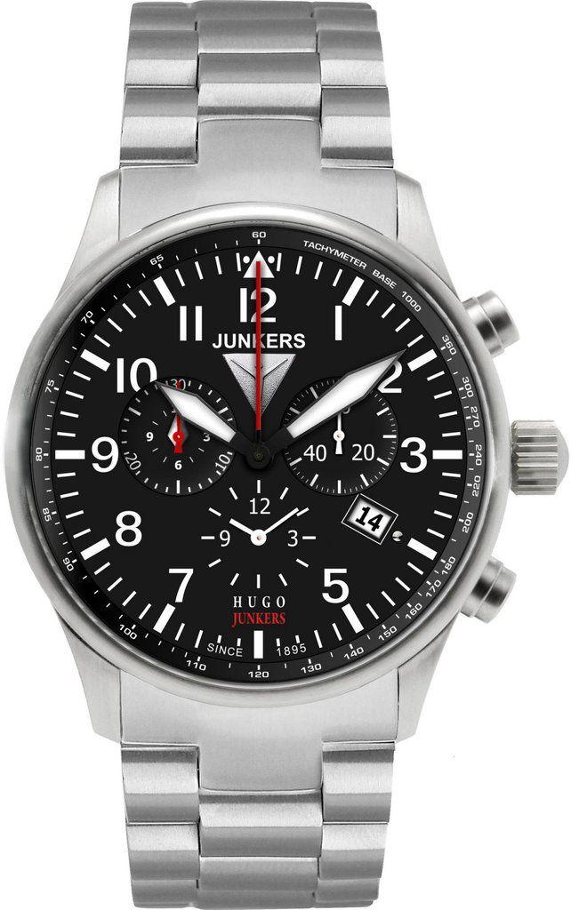 Junkers Watch Hugo Junkers #2015-2016-sale #bezel-fixed #black ...
