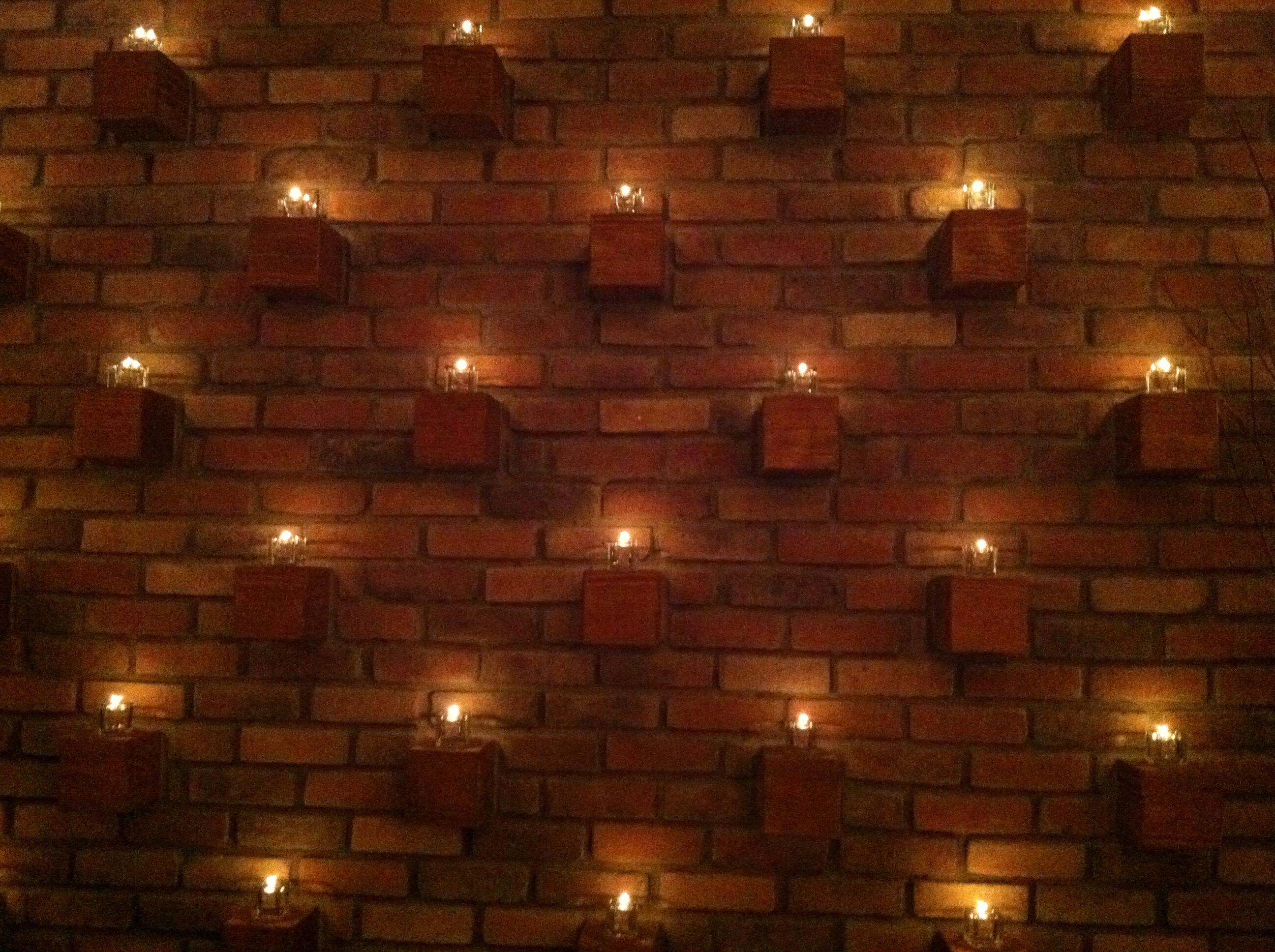 Using Bricks As Candle Holders