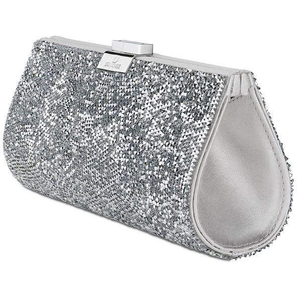 Swarovski Rock Silver Evening Bag 699 Liked On
