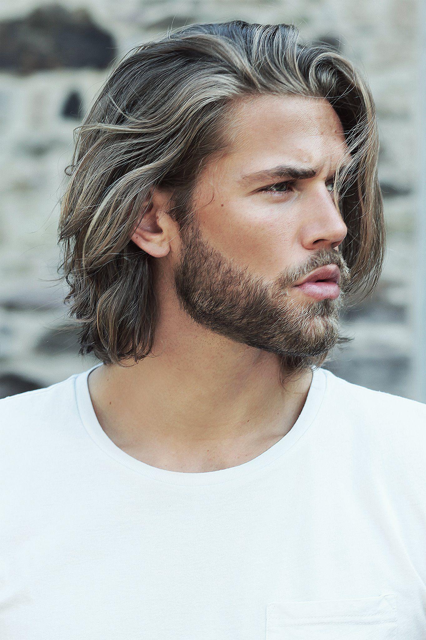 Mens long haircut og