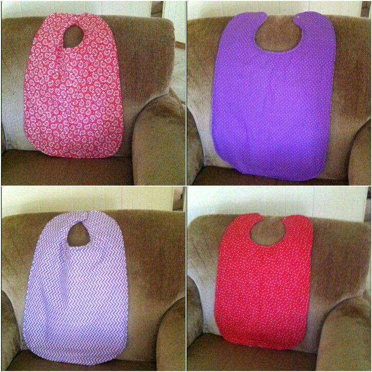 Reversible Bibs Made For Elderly Lady 2016 With Images