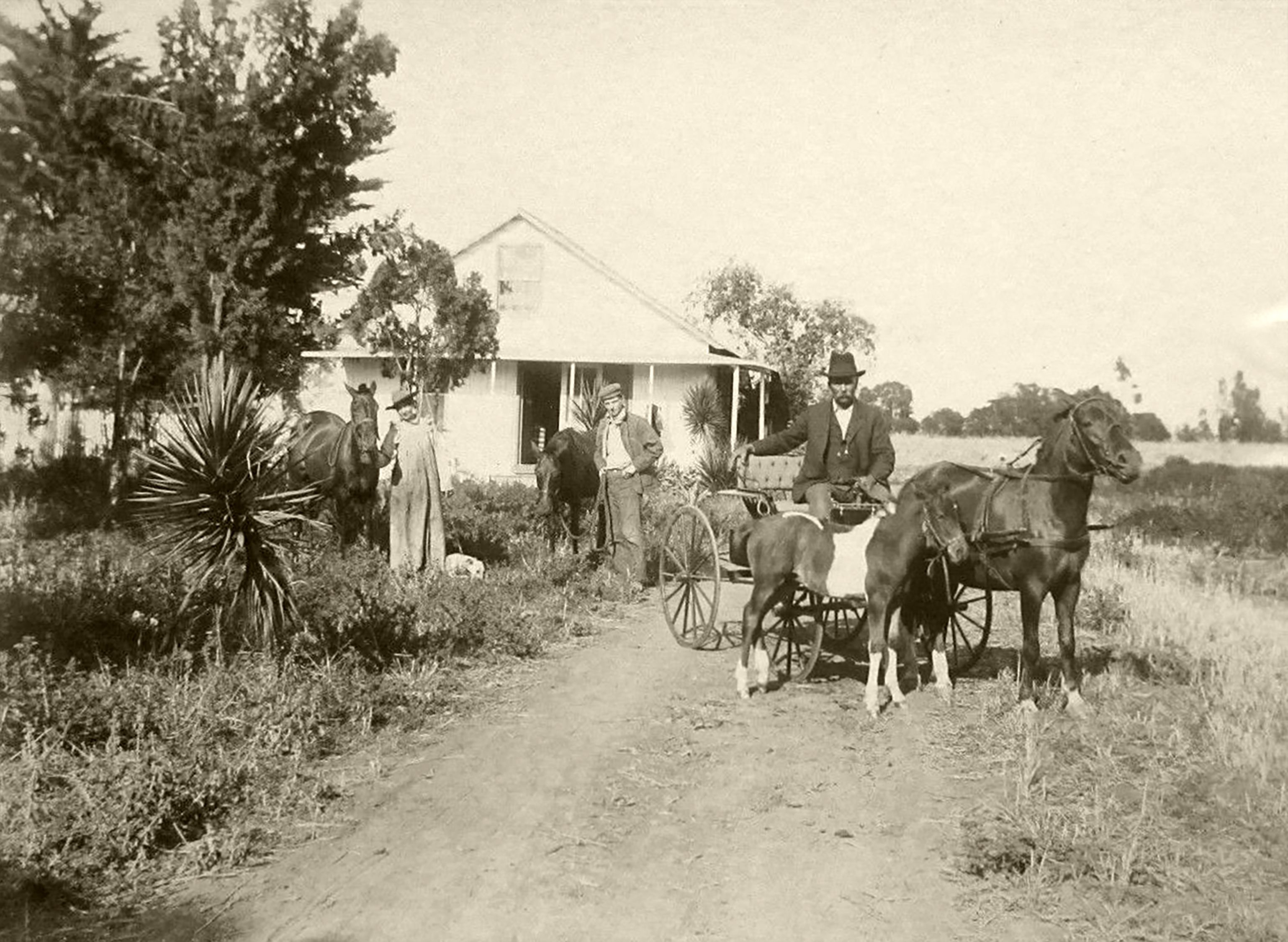 A Farming Homestead Around The Turn Of The 20th Century The Ranch