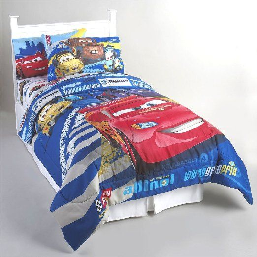 Amazon.com - Disney Cars Track Burn Twin Comforter Sheets Set - Childrens Bedding Collections