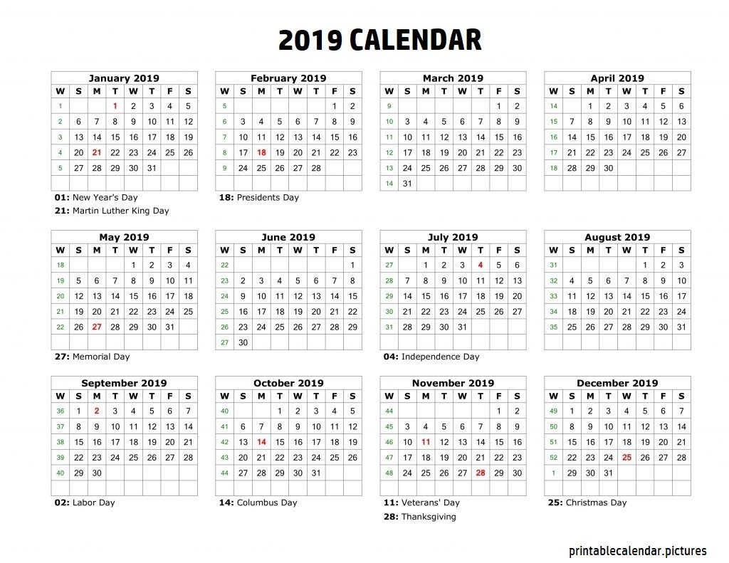 12 Month Calendar Printable Yearly Calendar Template Monthly Calendar Template