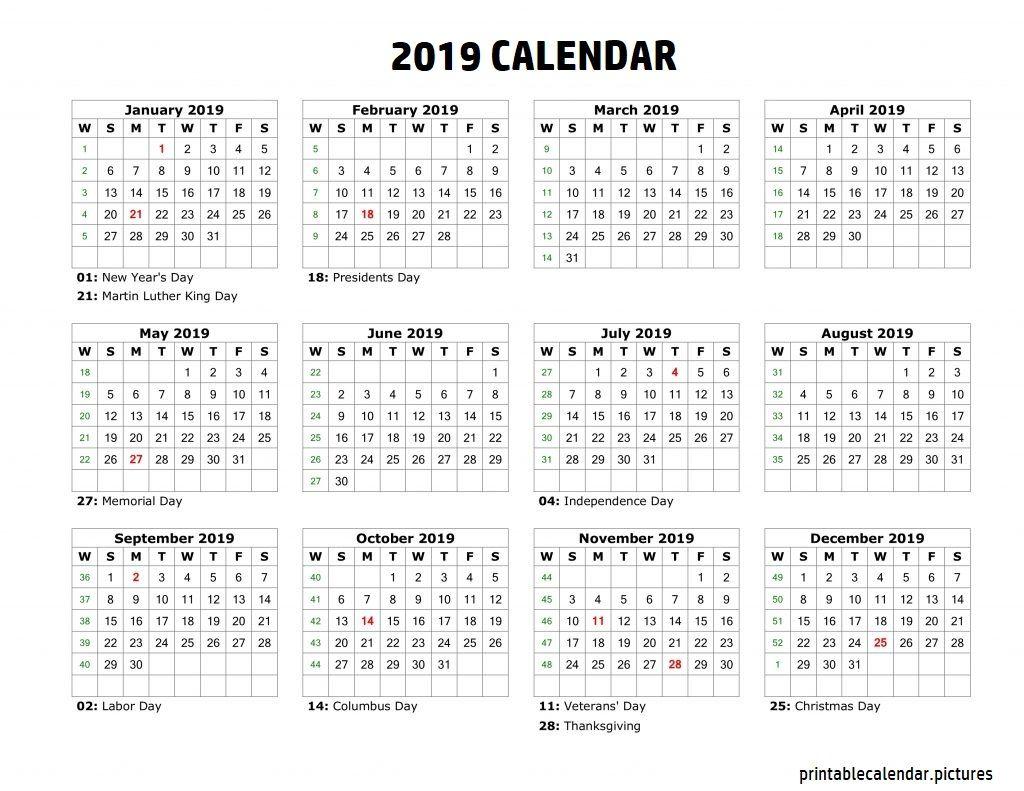 Calendar Holidays Bank