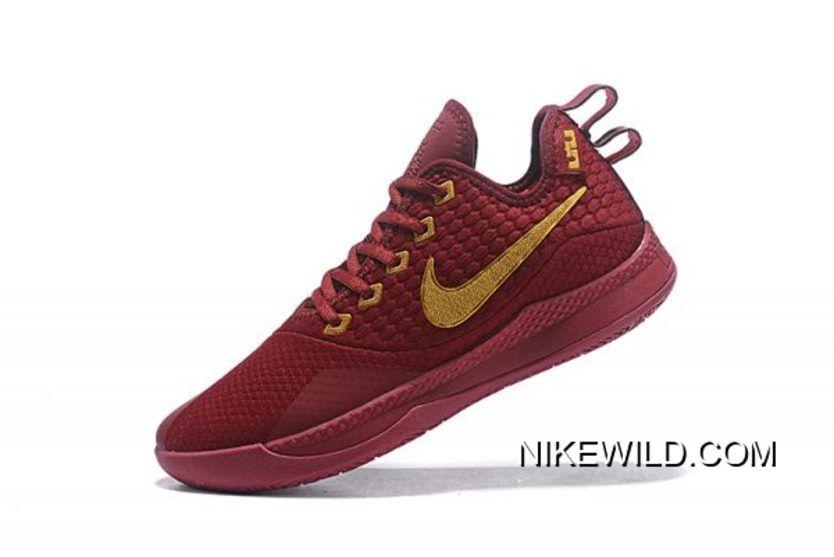 b6fe6f9f718d9c 2019 的 Tax Free Nike Lebron Witness 3 Red Wine Metallic Gold 主题 ...