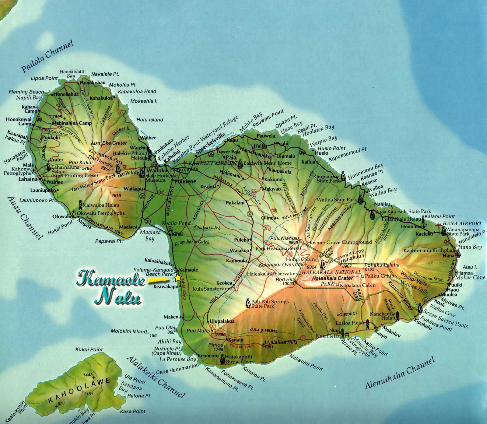 Maui Island Map Maui Hawaii u2022