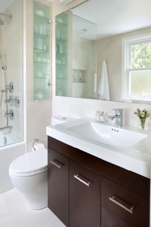Bathrooms Espresso Satined Wood Bathroom Cabinet Vanity White