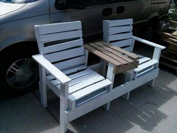 Sedie Pallet ~ Reclaimed pallet adirondack chairs sedie mobili e pallet