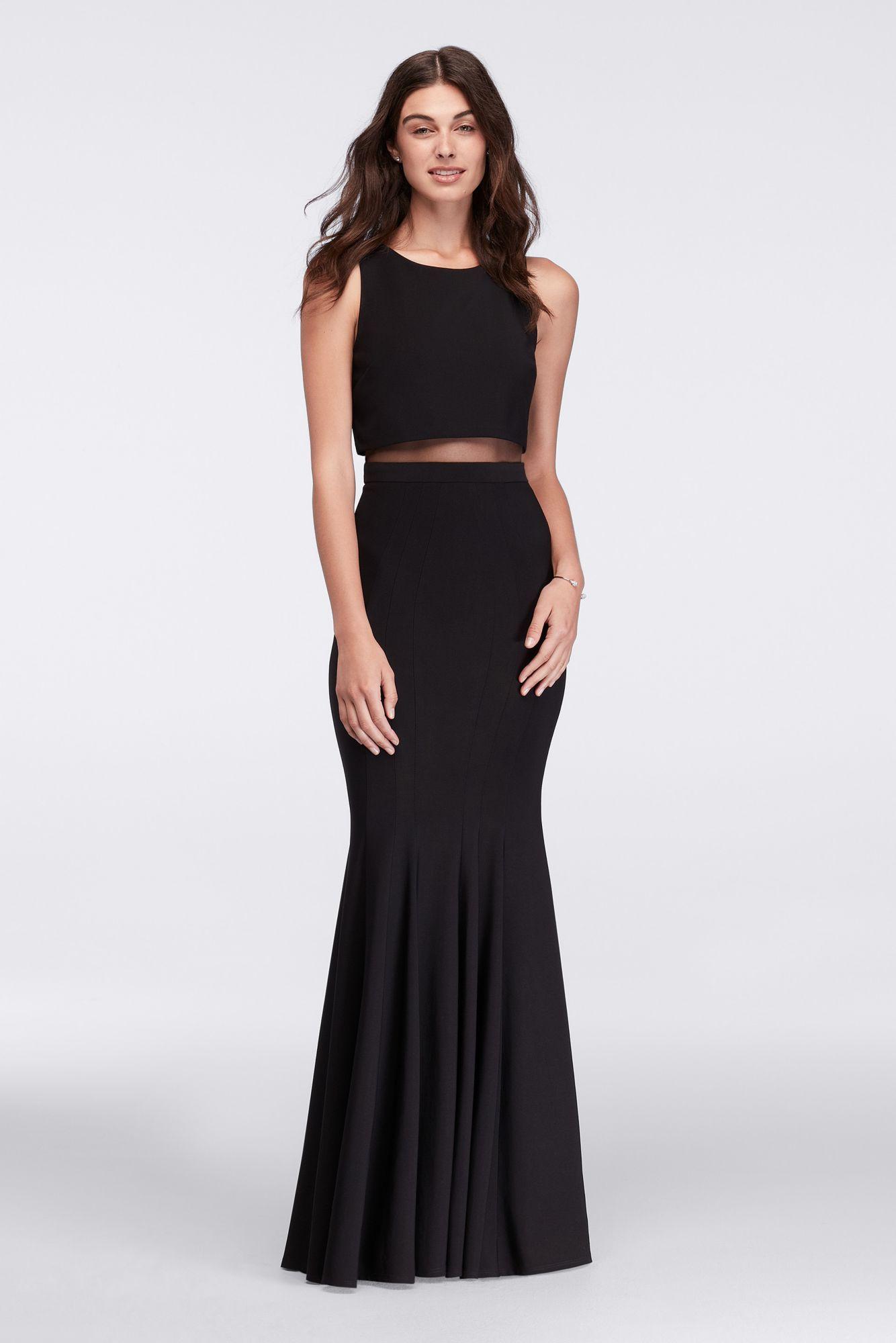 A18457 Style Long Illusion Mermaid Formal Dress Dresses