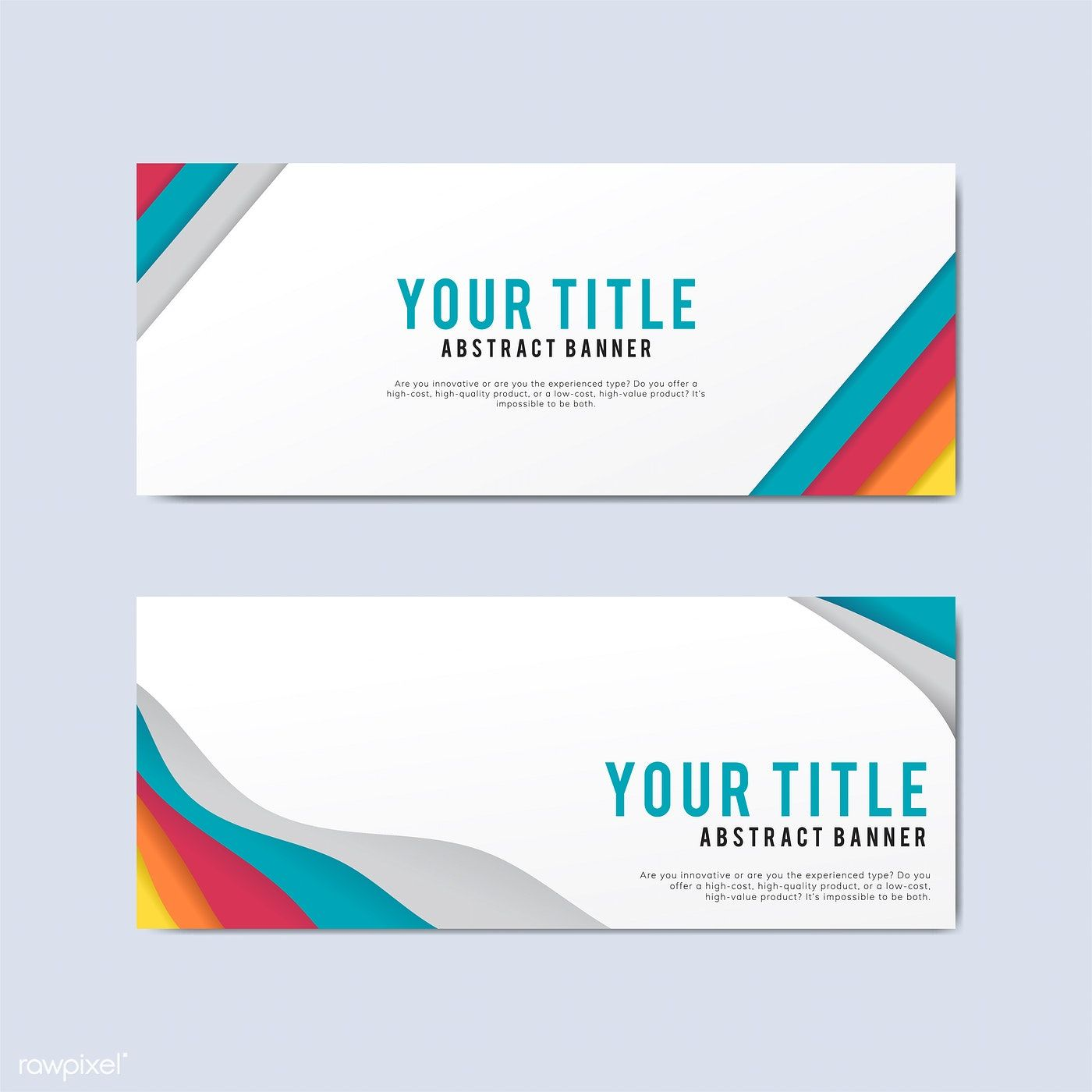 Colorful And Abstract Banner Design Templates Free Image By Rawpixel Com Banner Design Banner Template Design Template Design