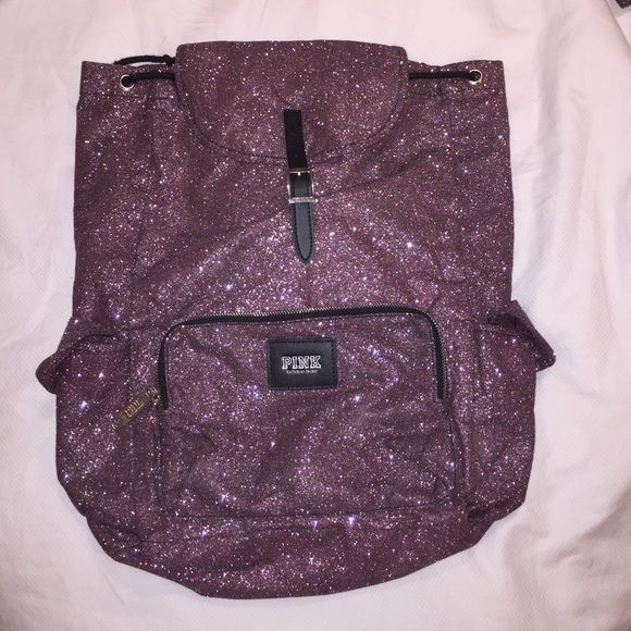 Victoria's Secret Purple Sparkle backpack Never used perfect condition Victoria's Secret Bags Backpacks