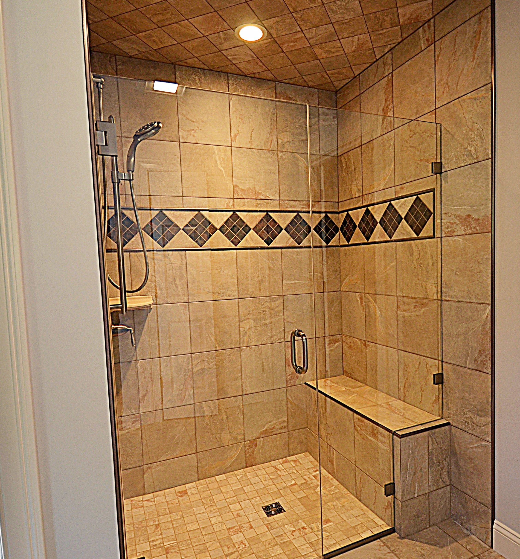 Hall Bathroom Tiles: NH Custom Tiled Shower By Hall And Hall Construction. NH