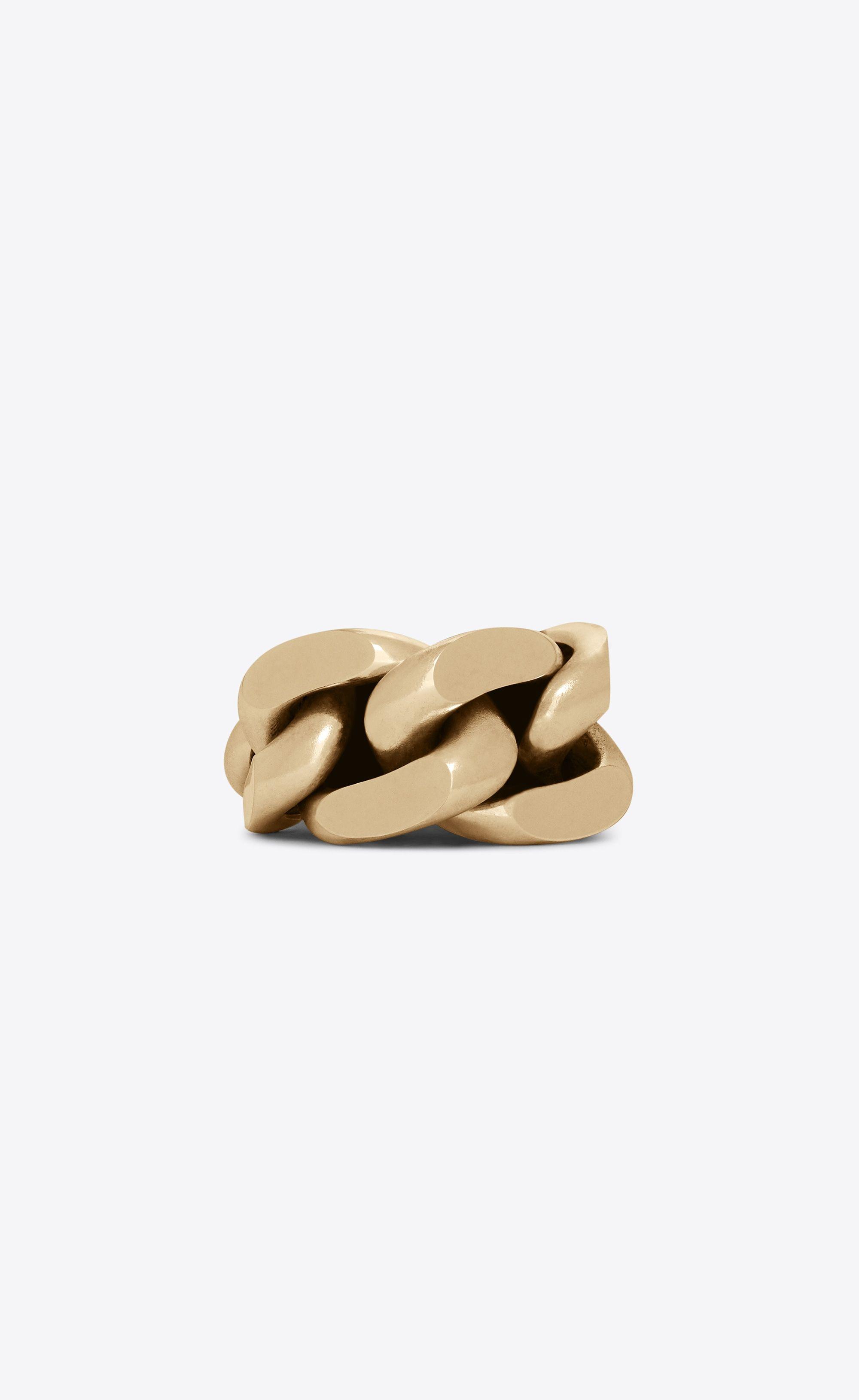 c54bfae6ef9  Saint Laurent - Chaines link bracelet in light gold-tone metal ($1,595)